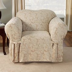Found it at Wayfair - Scroll Classic Armchair Skirted Slipcover