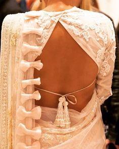 20 Latest Stylish Saree Blouse Back Neck Designs 2020 - Buy lehenga choli online Blouse Back Neck Designs, Sari Blouse Designs, Fancy Blouse Designs, Blouse Styles, Latest Blouse Designs, Saree Blouse Patterns, Choli Designs, Saree Styles, Poster Design