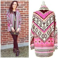 I just discovered this while shopping on Poshmark: Aztec Cardigan. Check it out!