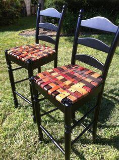 patchwork denim vintage chair - Google Search
