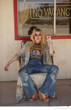 """Australian label Spell and the Gypsy Collective have launched its Holiday 2014 lookbook called """"Summer of Angels"""". The images star model Ashley Smith in 19"""