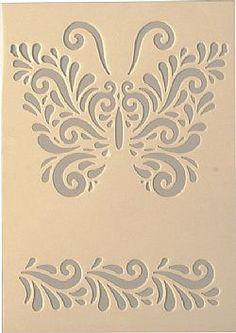 Στένσιλ σχεδίων(153) Rose Stencil, Bird Stencil, Stencil Painting, Stencil Patterns, Stencil Designs, Tile Patterns, Stencils, Stencil Decor, Motif Arabesque