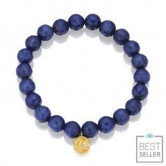 Sapphire Jade Beaded Bracelet | Satya Jewelry