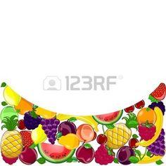 Resumen de fondo con una variedad de frutas photo