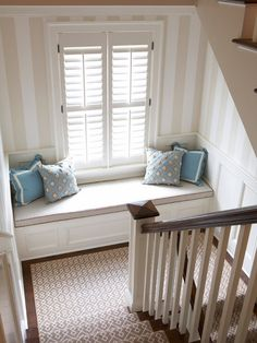 Old Greenwich Beach Cottage, Contemporary Staircase