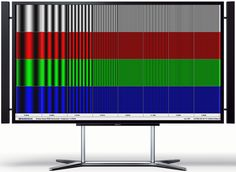 Test on a Sony UltraHD 4K Television colours