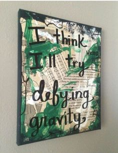 Excited to share the latest addition to my #etsy shop: Wicked Music art painting Broadway musical theatre theater dancer singer Defying Gravity Idina Menzel mixed media music gift PRINT