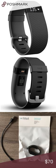 Fitbit Charge HR, black small Automatic, continuous heart rate & activity tracking right on your wrist. See heart rate all day &during workouts to get more accurate calorie burn, reach your target workout intensity &maximize training time. Track steps, distance, floors climbed &sleep quality, & stay connected w Caller ID &time of day on display. Charge HR also wirelessly syncs to your smartphone & computer so you can monitor your trends & get the motivation you need to push yourself further…