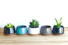 **Each color has a separate listing. This listing is for a Black Planter.** These colorful ceramic planters are handmade on the pottery wheel