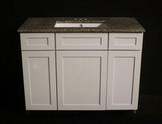 Website Picture Gallery Kraftmaid Dove White Bathroom Vanity Sink Cabinet Granite Top Included Kraftmaid