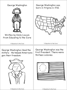 President's Day FREE Printable Book for Emergent Readers!! Includes a writing reflection!