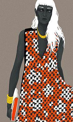 bingbleu fashion illustration