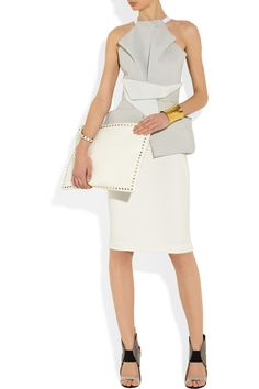 Valentino | The Rockstud Large leather clutch | NET-A-PORTER.COM