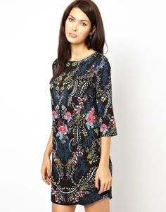 Warehouse Trailing Floral Dress
