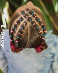 Easy Little Girl Hairstyles, Girls Natural Hairstyles, Baby Girl Hairstyles, Braided Hairstyles, Cool Hairstyles, Natural Hair Bun Styles, Long Hair Styles, Competition Hair, Girl Hair Dos