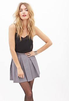 Pleated A-Line Mini Skirt | FOREVER21 - 2000059378