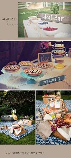 Fun food ideas for weddings!
