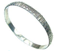 $61.50 Natural Beauty! Silver Sterling Silver Bracelet at www.SilverRushStyle.com #bracelet #handmade #jewelry #silver #silver