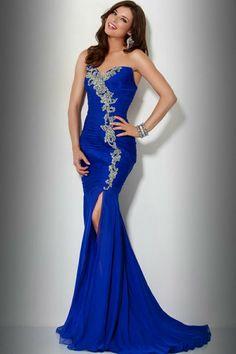 robe-soirée-sirène-bleu-marine-strass-argenté-bustier-coeur
