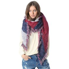 Multi stripe oversized scarf