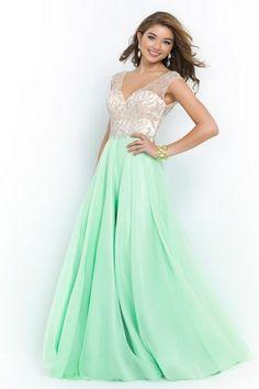 Eye-Catching Sleeveless Floor-Length Hunter Cheap Long Prom Dresses 2015