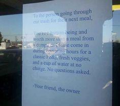 Als dieser Ladenbesitzer versprach, denen zu helfen, die Hilfe brauchen: