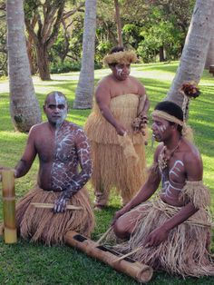 A traditional Kanak dance group performs in the garden of the Tjibaou Cultural Center at Noumea, New Caledonia, South Pacific. Cultural Center, South Pacific, Culture, Dance, Traditional, Statue, Group, Garden, Dancing