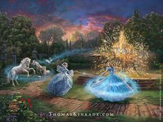 """Wishes Granted"" is one of four paintings in the newest Thomas Kinkade Studios…                                                                                                                                                                                 More"