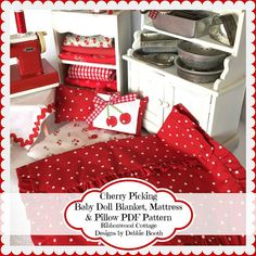 PDF Cherry Picking Baby Doll Quilt Mattress by RibbonwoodCottage
