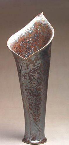 Fireworks Clay Art ~ Jim and Anne Shelly | Tall Lily Vase