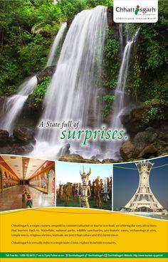 Chhattisgarh is virtually India in a single state, come, explore its infinite treasures. #ExploreChhattisgarh