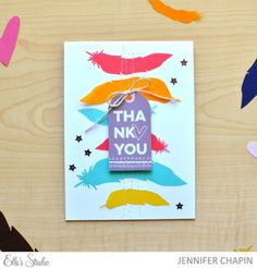 Thank You Card by Jennifer Chapin for Elle's Studio using the October 2015 exclusives