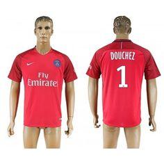 Paris Saint Germain PSG 16-17 Nicolas Douchez 1 Bortatröja Kortärmad  #Fotbollströjor