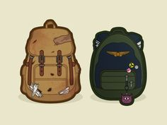 Backpacks - The Last of Us by Kevin Haag. Their backpacks are so iconic. At least to me... :p