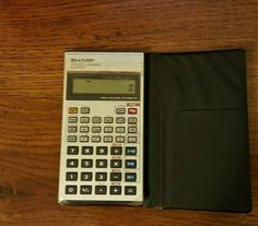 Vintage Sharp EL-506P Scientific Calculator with Case - TESTED #Sharp