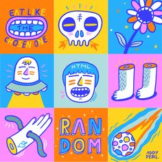 Keep It Random Folks. (Illustration by Addy Debil) Graphic Design Illustration, Digital Illustration, Graphisches Design, Happy Design, Posca Art, Dibujos Cute, Cute Art, Art Inspo, Vector Art