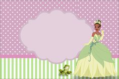 http://fazendoanossafesta.com.br/2013/06/princesa-tianaa-princesa-e-o-sapo-kit-completo-com-molduras-para-convites-rotulos-para-guloseimas-lembrancinhas-e-imagens.html