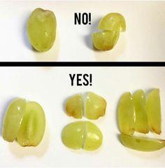 Como ofrecer las uvas - BLW