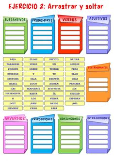 Parts of Speech Interactive worksheet Parts Of Speech Worksheets, Part Of Speech Noun, Nouns And Adjectives, Spanish Grammar, Home Schooling, Your Teacher, School Projects, Teaching Resources, Language