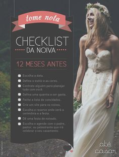 Tome Nota √ Checklist da Noiva