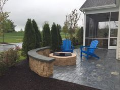 Cambridge Firepits add such a great touch to your gorgeous backyard. Get one today! Installation: Passwater Landscaping