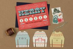 New Printables - Holiday Card and Ugly Sweater Gift Tags