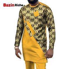 2020 African men suits dashiki clothing print shirts tops+pants with pockets 2 piece set ankara patchwork outfit blouse WYN1004| | - AliExpress Latest African Wear For Men, African Male Suits, African Shirts For Men, African Dresses Men, African Attire For Men, African Clothing For Men, African Men Fashion, Couples African Outfits, Costume Africain