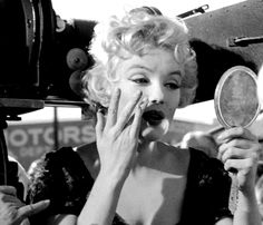 """""""Marilyn Monroe on the set of Bus Stop, 1956. """""""