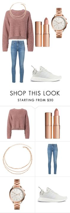 """Birthday party in the evening"" by sarahfohlen ❤ liked on Polyvore featuring rag & bone, Charlotte Tilbury, Citizens of Humanity, FOSSIL, adidas, Winter and 2k18"