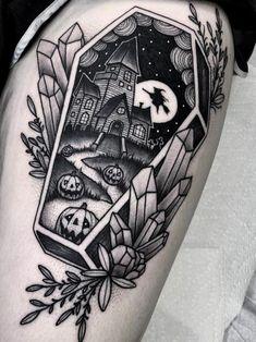 Tattoo art by Angelo Parente - Art Corporel Leg Tattoos, Body Art Tattoos, Sleeve Tattoos, Cool Tattoos, Tatoos, Makeup Tattoos, Dream Tattoos, Future Tattoos, Kunst Tattoos