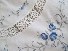 Vintage Tablecloth Square Round Hand Crochet & by BellaBordello, $42.00