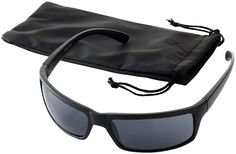 Gafas de sol con atractivo diseño y lentes de categoría 3, presentadas en una bolsa suave con cierre de cordón. Según las normas EN ISO 12312-1 y UV 400. Plástico. www.tusregalosdeempresa.com