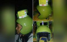 Inilah Helm Yang Terbuat Dari Tabung Elpiji 3 Kg Yang Mendadak Viral