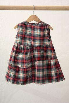 Tartan Pinafore dress//Pichi Escocés    No Sin Valentina Shop online